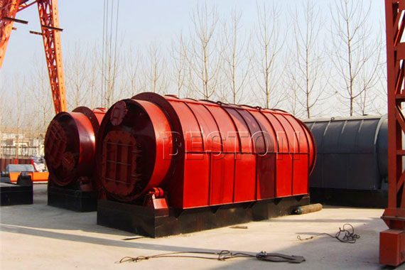 Waste Tyre to Oil Pyrolysis Machinery